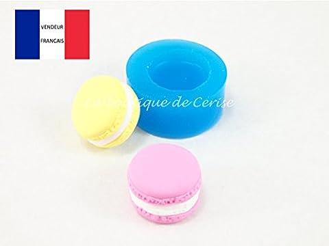 Moule silicone miniature gateau macaron 2cm pour fimo, pâte à modeler, resine, porcelaine froide