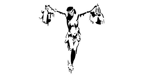 Banksy Schablone panamonium XL Gr/ö/ße Schablone malen ihre W/ände mit Ihrem eigene Authentisch BANKSY KUNST gro/ße Gr/ö/ßen f/ür mehr Visual Impact 78x80cm