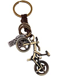 Young & Forever Mothers Day Gifts Brown Leather Alloy Bicycle Hand Bag Charm For Mens/Women/Boys/Girls HBC50155