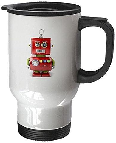 statuear Jouet Robot avec neutre visage 14-Ounce Tasse de voyage en acier inoxydable