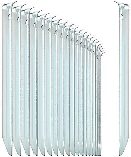 com-four® 24x Zelt-Heringe aus Stahl - halbrunde, robuste Erdnägel für Camping und Outdoor - ideal für normalen Boden