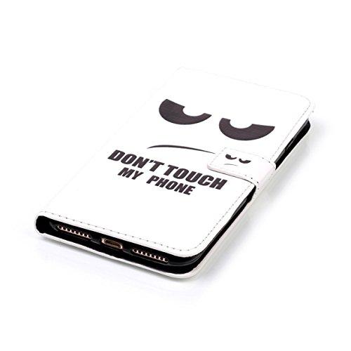 WYSTORE Apple iphone 7plus coque , PU cuir flip housse Étui Cover Case Wallet Stand avec Carte de Crédit Fentes pour ,Protection Anti Rayure Anti Choc Résistante Fashion - AMOUR œil