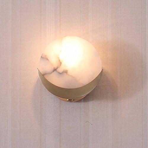 YU-K Modernes Schlafzimmer Nachttischlampe Wandleuchte minimalistischen Wohnzimmer Wand Lampen die Straße Flur Studie Wandleuchte Wandleuchte Messing Wandleuchte über dem Bett, Badezimmer Wandleuchten (Schmiedeeisen Betten Messing)