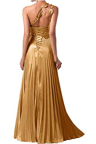 Gorgeous Bride Fashion Ein-Traeger Etui Lang Satin Blumen Ballkleider Festkleider Abendkleider Himmelblau