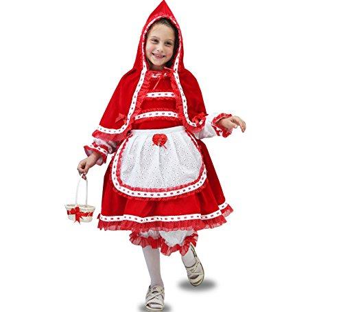 Vestito costume maschera di carnevale bambina - cappuccetto rosso lusso - taglia 12/13 anni - 131 cm