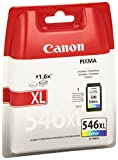 Canon Pixma XL CL-546 - Cartucho de tinta color formato XL, color cian, magenta y amarillo