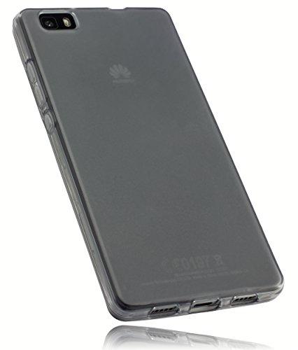 mumbi TPU Schutzhülle Huawei P8 Lite Hülle transparent schwarz (nicht für das P8 Lite Smart)