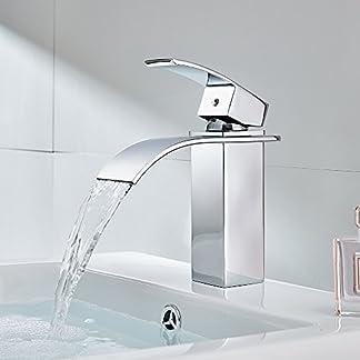 AuraLum Grifos de Lavabo Grifo de Baño Monomando Mezclador Grifo de Cuenca Grifería baño Caño
