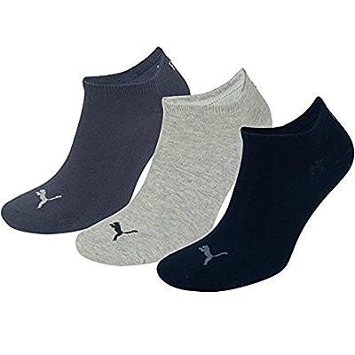 6 Paar Puma Sneaker Invisible Socken Gr. 35 - 49 Unisex für Damen Herren Füßlinge, Farbe:532 - navy/grey/nightshadow b;Bekleidungsgröße:S