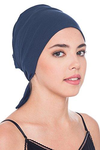 Deresina Headwear Komfort Baumwolle-Kappe Mit Binde An Der Ruckseite (Denim)