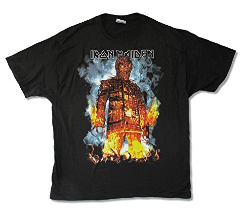 Iron Maiden Wicker Man North American Tour 2010 T Shirt (2X) - Wicker Man-shirt