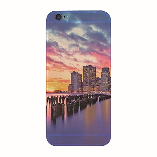 "Jinberry Colorate Custodia Protettiva in TPU Morbida per iPhone6 (4.7"") Dipinto Ultrasottile 0.5mm Case Back Cover con Protezione Tappi Polvere Apple iPhone 6 - Crepuscolo"