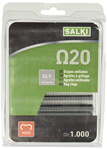 Salki 0111220 Grapa Galvanizada Omega 20