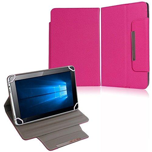 NAUC Tasche Hülle Schutzhülle für XORO TelePAD 10A3 Case Cover Bag Schutz Etui, Farben:Pink