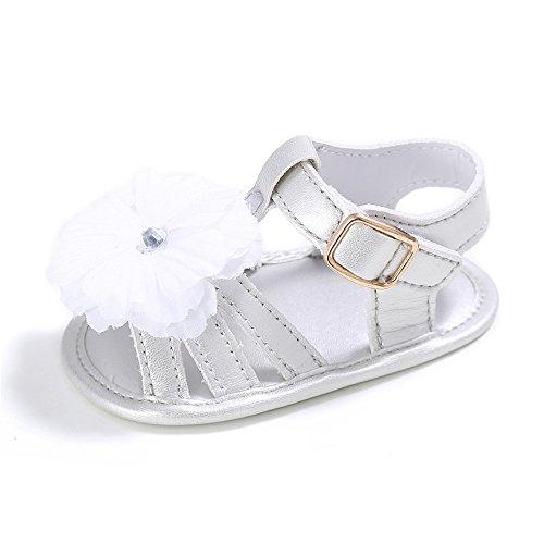 Minuya Sandali da Spiaggia per Bebe Infantili Scarpe Sandali con Fondo in Gomma Morbida 0-18 Mesi (0-6 Mesi, Nero)