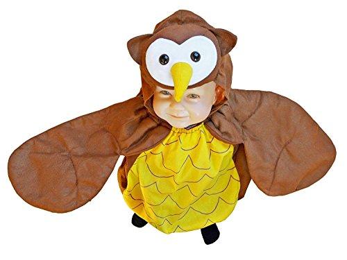 Seruna Eulen-Kostüm, F68/00 Gr. 74-80, für Klein-Kinder, Babies, Eule-Kostüme Eulen-Kostüme Fasching Karneval, Kleinkinder-Karnevalskostüme, Kinder-Faschingskostüme, Geburtstags-Geschenk