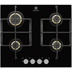 Electrolux EGT6345YOK Integrado Encimera de gas Negro hobs – Placa (Integrado, Encimera de gas, Hierro fundido, Negro…