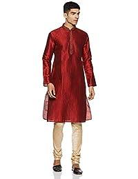 Manyavar Men's Blended Kurta & Churidar Set (S952154)