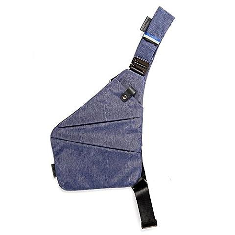 NIID-FINO Sling Schulter Crossbody Brust Tasche Slim Rucksack Multipurpose Daypack für College Herren Frauen Radfahren Walking Wandern Trip Passt bis zu 7,9 Zoll iPad Mini (RECHTS, Navy blau)