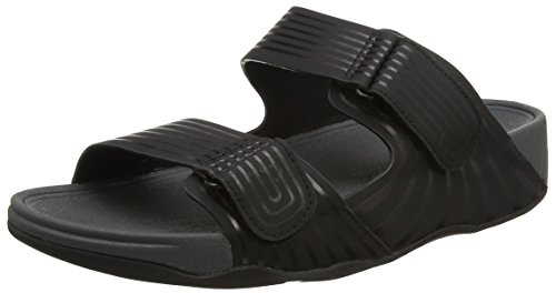 Fitflop Men's Gogh Moc Pool Slide Adjustable Open-Toe Sandals
