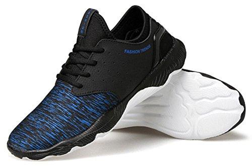 HYLM Nouvelles chaussures de basket-ball Chaussures de sport masculin / grande taille Chaussures de course en dentelle Chaussures de course Chaussures de fitness Blue