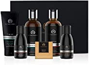 Charcoal Grooming Kit By The Man Company | Packed In Elegant Wooden Gift Box | Set Of 6 - Body Wash, Shampoo,