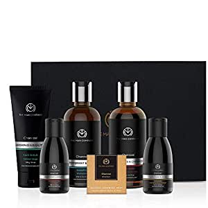 The Man Company Charcoal Kit Set Of 6 - Body Wash, Shampoo, Face Scrub, Face Wash, Cleansing Gel, Soap | Best Gift for Men