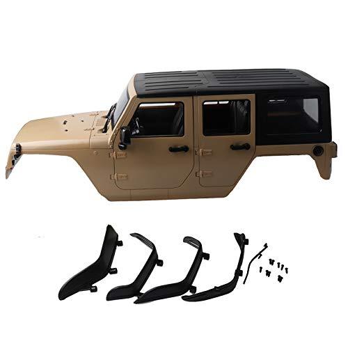 Preisvergleich Produktbild Dilwe RC Auto Karosserie,  1 / 10 RC Rock Crawler Hartplastik Auto Karosserie Abdeckung für 313mm Auto Radstand(Grau)