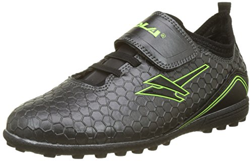 Gola Unisex-Kinder Apex VX Velcro Fußballschuhe, Grau (Dark Grey/Black), 26 EU