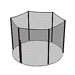 Idea Regalo - Ampel 24, Rete di sicurezza per trampolino con Ø 244cm | Rete di ricambio per trampolino da giardino con 6 pali | Rete esterna | Antistrappo, resistente agli UV