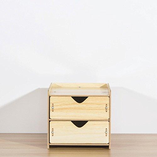 Multi-layer-holzschublade lagerschrank,Frei stehende spind desktop veredelung kleines kabinett objekt aufbewahrungsbox Veranstalter-D (Frei Box Stehende)