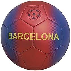 Junatoys Barcelona Balón fútbol, Hombre, Azul/Granate, Talla Única