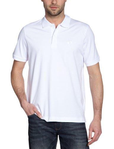 Lotto K9516 Smash JS - Polo sportiva da uomo, a maniche corte, Bianco (bianco), XXL