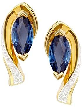 MyGold Ohrringe Ohrstecker Stecker Gelbgold Weißgold 375 / 585 (9 / 14 Karat) Bicolor Rubin Saphir Smaragd Diamanten...