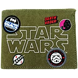 Star Wars Wallet Monedero, 12 cm, Verde (Khaki)