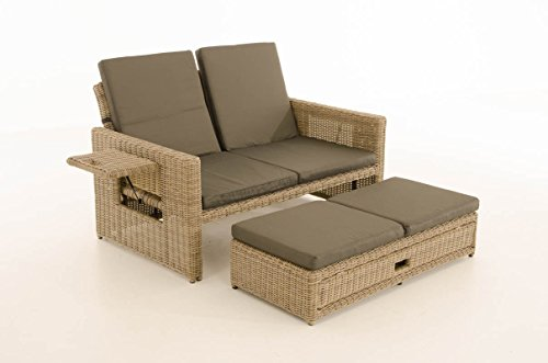 preisvergleich clp polyrattan 2er loungesofa ancona i garten sofa willbilliger. Black Bedroom Furniture Sets. Home Design Ideas