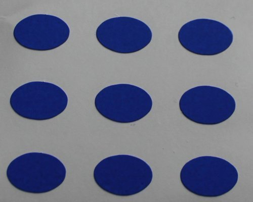 150 Etiquetas, 10x7mm Ovalados, Azul, pegatinas autoadhesivas, Minilabel Formas
