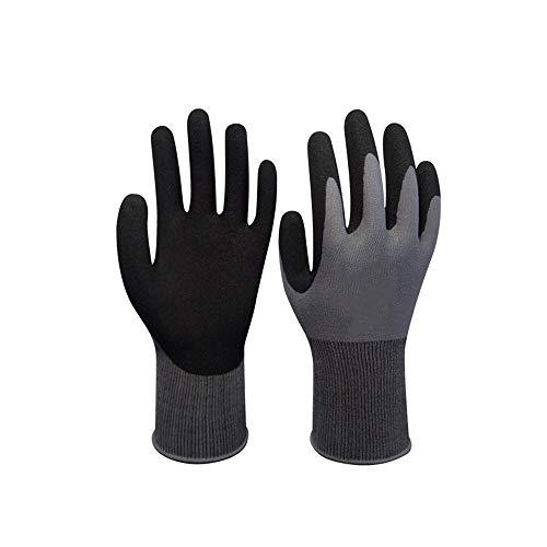 XINGUANG Nitril-getauchtes Nylon Verschleißfeste Ölbeständige Handschuhe Work Dry Maintenance Handling Schutzhandschuhe Sportausrüstung (größe : M)