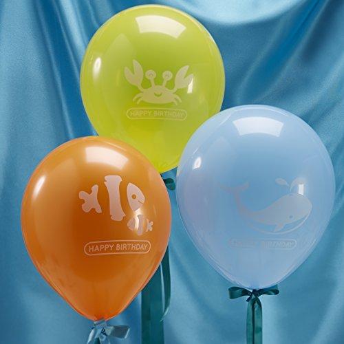 Preisvergleich Produktbild Ginger Ray Alles Gute zum Geburtstag Sea Themed Party Ballons - Unter dem Meer