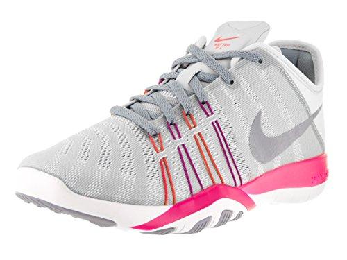Crosstraining-schuhe Nike Damen (Nike Damen 833413-006 Turnschuhe, Weiß/Rosa, 39 EU)