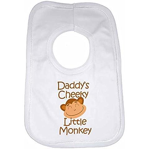 Daddy de Cheeky Little Mono–personalizable bebé babero infantil, para niños, niñas, recién nacido