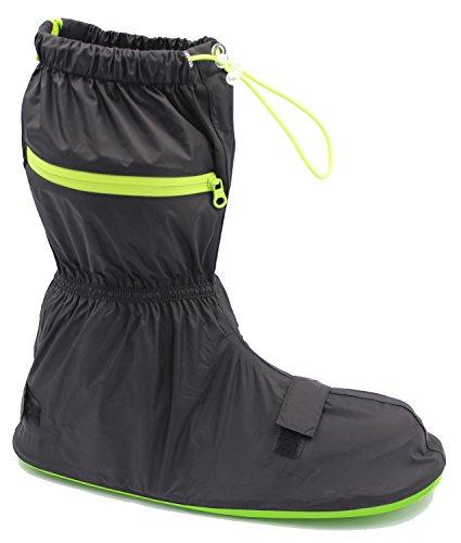 knixmax Herren Wasserdicht Schuhe zum Gummi Sohle Rutschfest Regen Schnee Stiefel wiederverwendbar waschbar über schuhe für Outdoor, Camping, Angeln, Garten XL schwarz