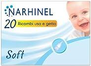NARHINEL 20 Ricambi Usa e Getta Soft in Plastica Morbida, con Filtro Assorbente, per Trattenere il Muco ed Aiu