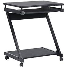 innovareds COMPUTER Office Desk Task tavolo 360Ruote girevoli tavolo scrivania multifunzione mobile nero