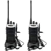 Retevis RT7 Walkie Talkie Recargable 16 Canales Función de Linterna Función FM Radio VOX CTCSS DCS