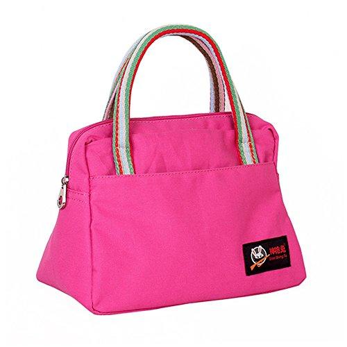 Fortuning's JDS® Classico canvas casuale borsa della borsa quotidiana delle donne, blu rosa rossa