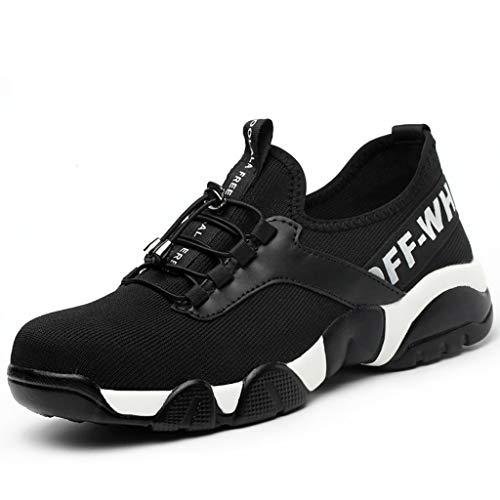 YXWa Ingenieurstiefel Sicherheitsschuhe schwarz Hammer Männer Sicherheitsschuhe Stahlkappe Arbeitsschuhe Knöchel Training Schuhe Wanderer Mittelsohle Schutz Sportbekleidung für Männer (größe : 37)
