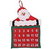 Terciopelo Advenimiento Calendario De Navidad Decoracion Navidena Kit Tapiz Conteo