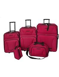 Set de equipaje de viaje 5 piezas (Rojo)