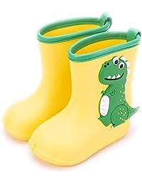 Gainsera Botas de Agua Impermeable y Antideslizante Caucho de EVA Botas de Lluvia para Niños y Niñas, 1102 Amarillo 21 EU